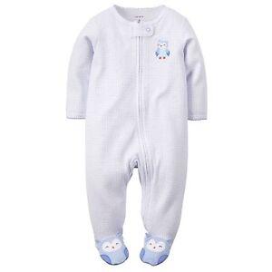 Girls' Clothing (newborn-5t) Nuovo Carter's Ragazza Sleep N Play Gufo Happy Feet Con Etichetta Neonati 3m 6m In Pain