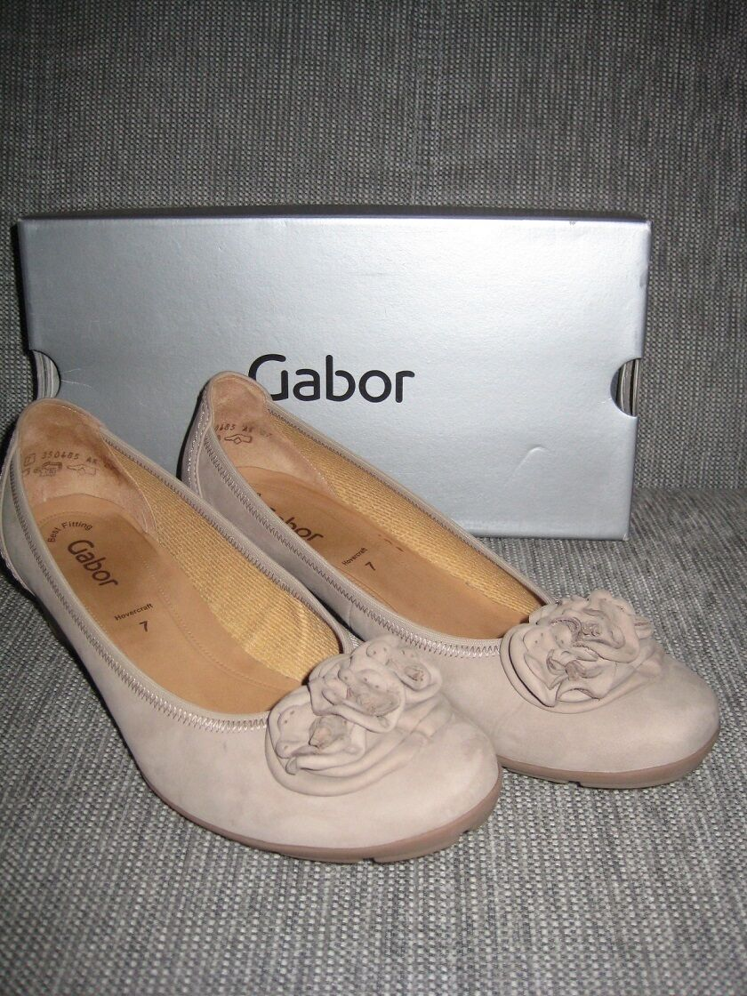 GABOR Pumps Hovercraft Damen Schuhe 85.410-12 Nubuk Soft visone Hovercraft Pumps Gr. 40,5 NEU 13c3b7