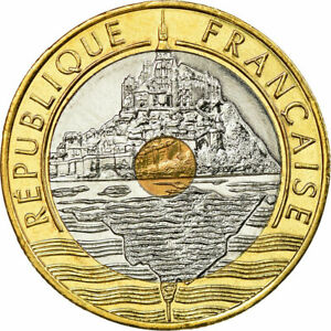750830-Coin-France-Mont-Saint-Michel-20-Francs-2000-Paris-MS-65-70