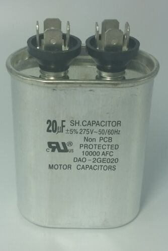 Motor Run Capacitor 20uF 275VAC DAO-2GE020