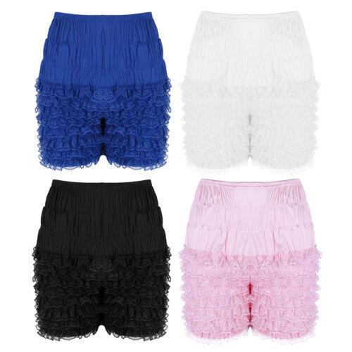 Women Tiered Ruffle Lace Bloomers Shorts Underwear Knicker Shorts Under Pants
