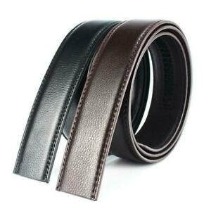 Luxury-Men-Leather-Automatic-Ribbon-Waist-Strap-Belt-Black-Buckle-Without-R8M2