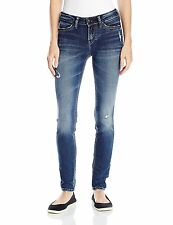 Silver Jeans Women's Mid-Rise Rinsed, Indigo Jeans | eBay
