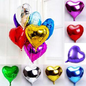 10pcs-10-034-Love-Heart-Foil-Helium-Balloons-Wedding-Party-Birthday-Decoration