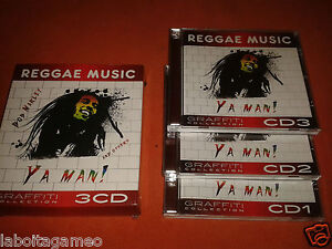 REGGAE-MUSIC-BOB-MARLEY-AND-OTROS-YA-MAN-GRAFFITI-COLLECTION-3-CD-ORIGINAL