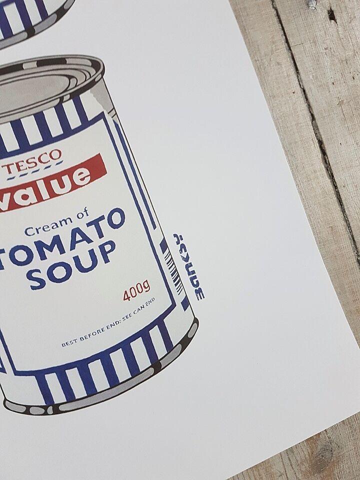 Litografi, Banksy, motiv: Tesco Soup Cans