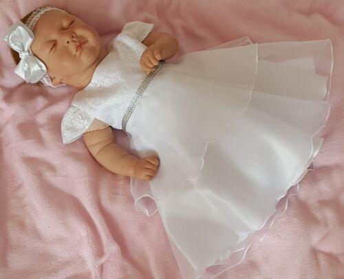 Taufkleid Festkleid Taufgewand Kleid Taufe Hochzeit Babykleid Nr.0HBK2