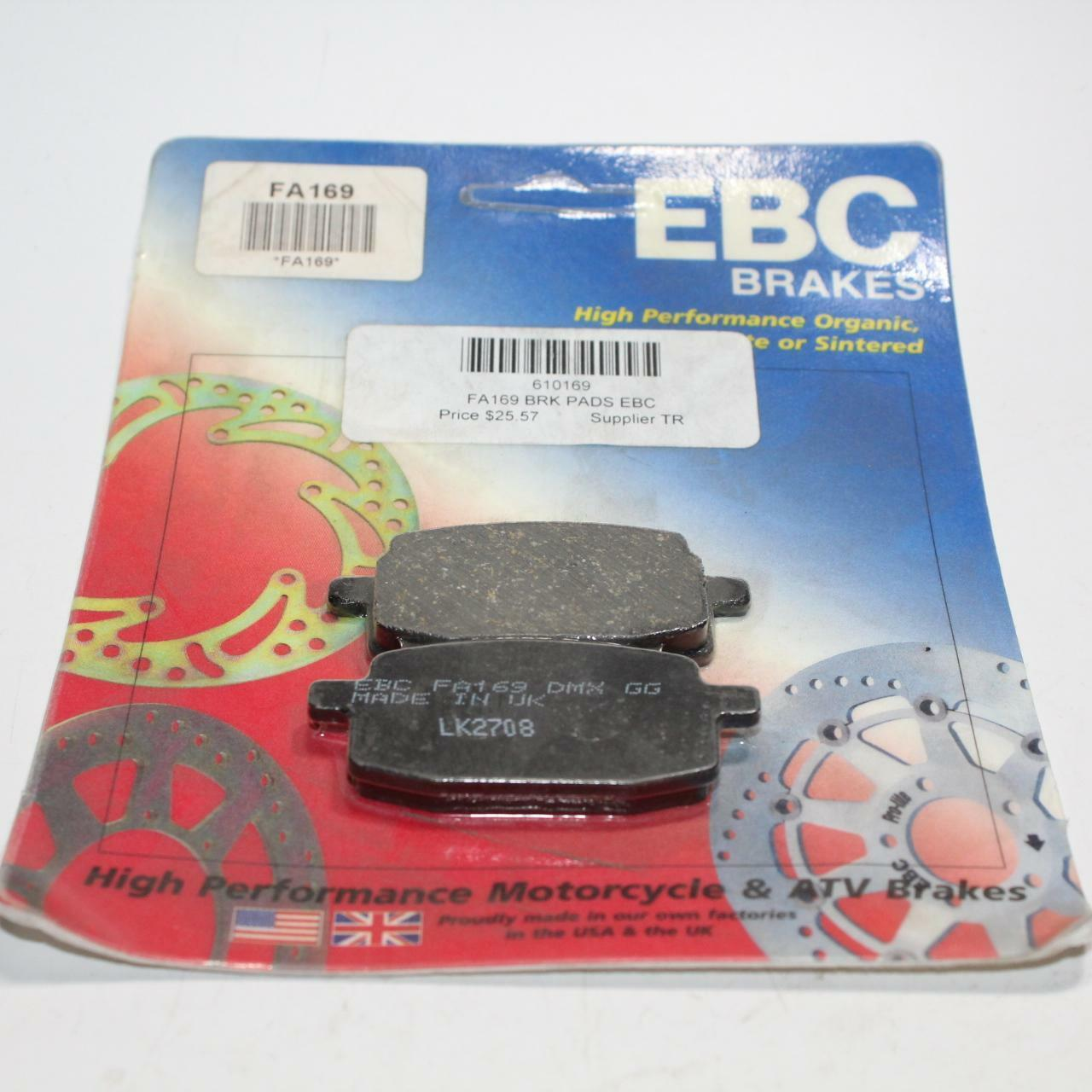 EBC Brakes Organic Front Brake Pads Yamaha Zuma YW50 2002-2010 NOS 1 SET