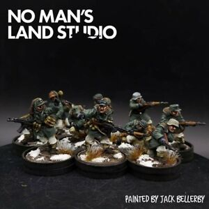 PRO PAINTED 28mm BOLT ACTION Inverno TEDESCA WAFFEN SS Squad × 10 Ww2 fronte orientale