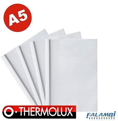 25 Thermobindemappen DIN A5 Thermomappen klares Deckblatt glänzender Karton