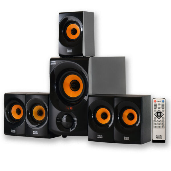 Acoustic Audio AA5170 Home Theater 700-Watt 5.1 Bluetooth Speaker System With Powered Sub
