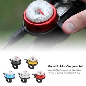 Mountainbike-Radfahren-Fahrrad-Rennrad-Glocke-Klingeln-Outdoor-Aussen-mit-Kompass