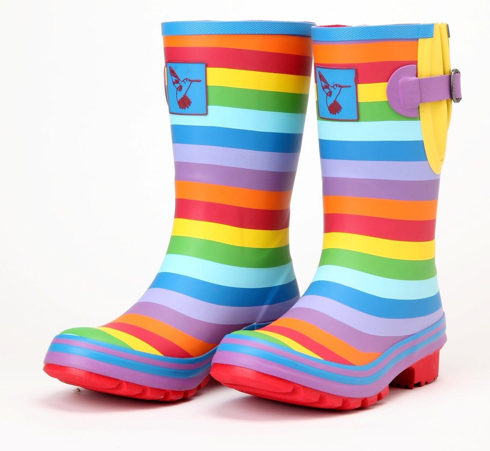 Ladies Evercreatures Multi Patterned Short Wellies Wellington Boots - UK 3 - 8