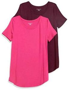 Essentials-Women-039-s-2-Pack-Bright-Pink-Burgundy-Size-X-Large-CUqi