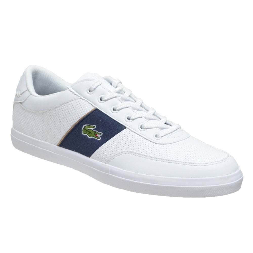 Lacoste Court Master 318 1 CAM Weiß   Navy (N56) Mens Trainers
