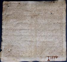 FRANKREICH PERGAMENT URKUNDE LATEIN FRANZÖSISCH EINBANDFUND / MAKKULATUR ? 1486