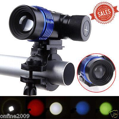 2000LM XM-L T6 LED 3-Modes 18650 Bicycle Bike Head Light Police Torch Flashlight
