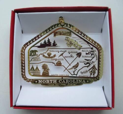 North Carolina State Brass Ornament