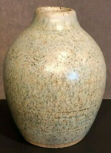 Studio-Art-Pottery-Vase-Robert-Reckers-Vtg-Signed-Handcrafted-Blue-Approx-4-034