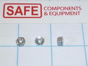 """1//4/""""-20 Coarse KEPS Nut Star Nut with Ext Tooth Lockwasher Zinc"""