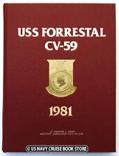 USS FORRESTAL CV-59  1981 MEDITERRANEAN CRUISE BOOK