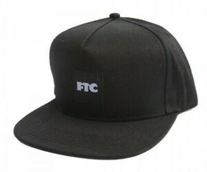 Ftc-Skateshop-Sf-Casquette-Cap-Hat-5-Panneau-Snapback-Og-Carre-Black-Supreme-Nyc
