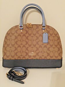 7f713a4f44bc Image is loading New-Coach-Sierra-Satchel-in-Colorblock-Signature-Canvas-