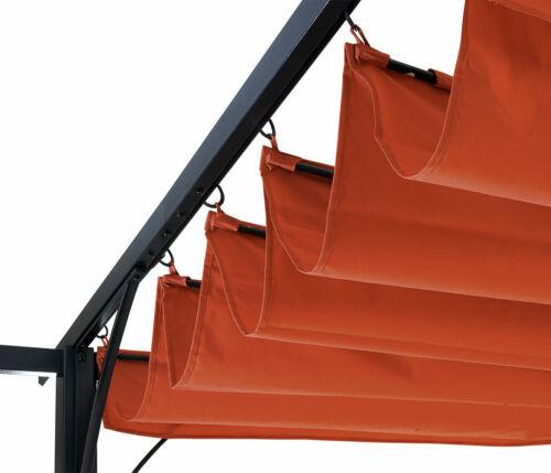 toit ouvrant 3x3m terre cuite Pergola mcw-c42 6 cm-Châssis Pavillon de jardin