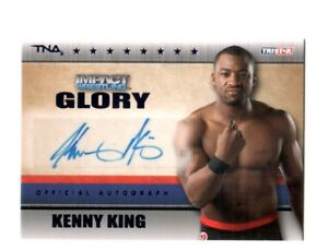 TNA-Kenny-King-2013-Impact-Wrestling-GLORY-BLUE-Autograph-Card-SN-5-of-10