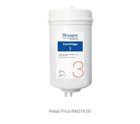 8 - Cosway eCosway Hexagon Water Filtration System 2 2 2 REPLACEMENT Cartridge 3 e11495