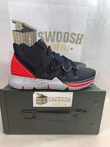 6b121bf0507f Nike Kyrie 5 V GS Irving University Red Black Basketball Shoes ...