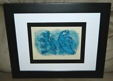 """VTG Marc Chagall """"Verve No. 33-34"""" Cover for the Bible King David Framed Litho"""