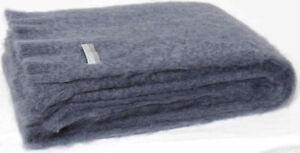 Masterweave Windermere Mohair Knee Wrap Throw Blanket in Storm