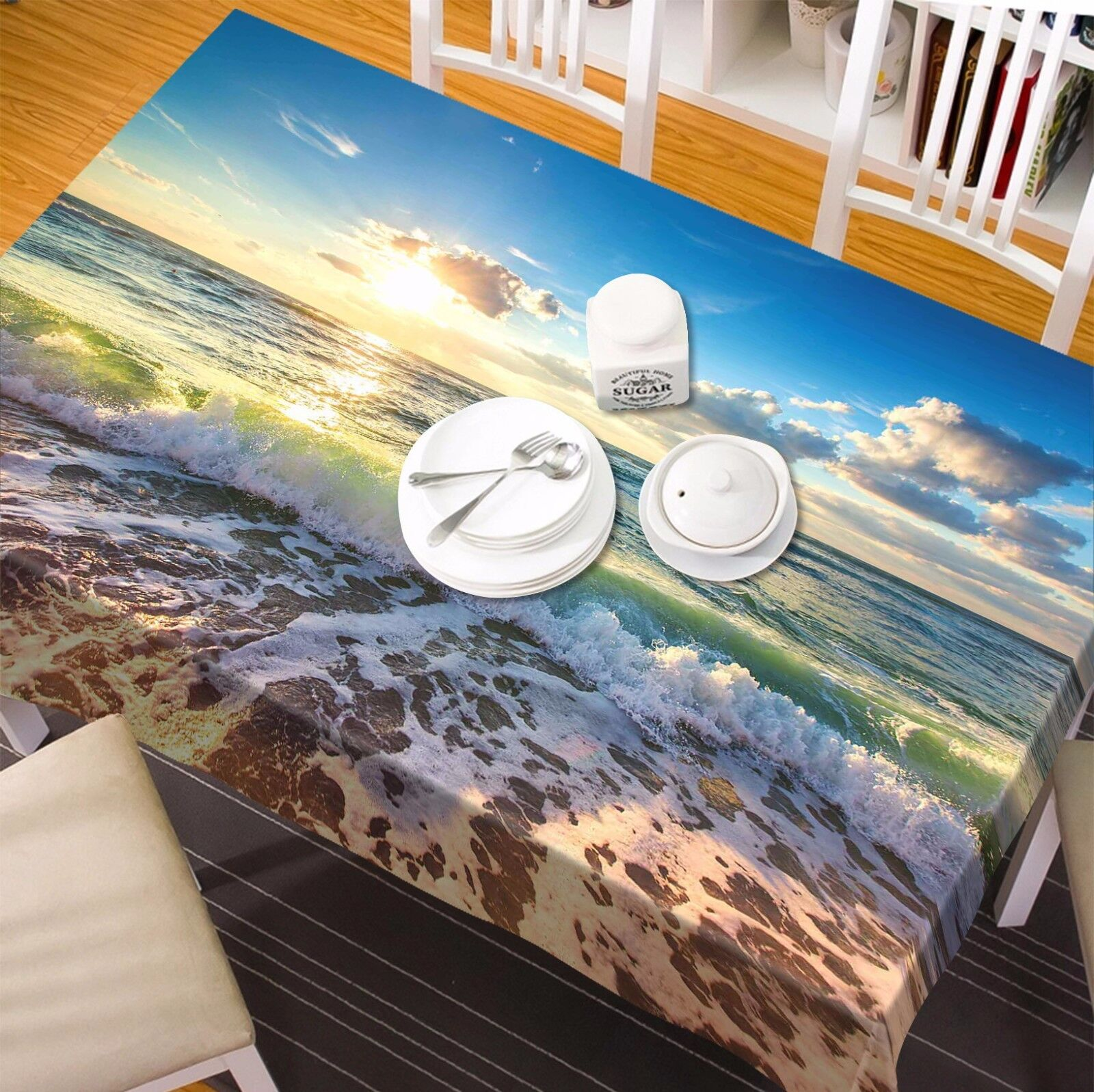 3D Sky wave 98 Tablecloth Table Cover Cloth Birthday Party Event AJ WALLPAPER UK