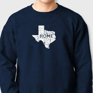 buy popular 24f83 33bd8 Details about Texas HOME State Pride T-shirt Lone Star Dallas cowboys  Tejano Crew Sweatshirt