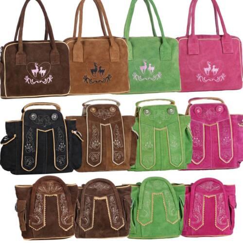 Dirndl Bag Traditional Costume Handbag Oktoberfest Real Leather