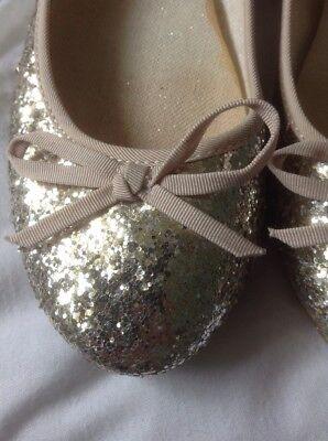 Lote siguiente para Niñas Damas Brillo Bombas Zapatos, tamaño 5