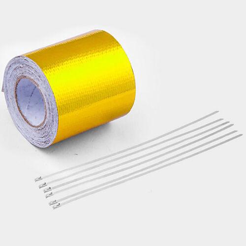 Exhaust Pipe Aluminum Foil High Temperature Wrap Tape Reflective Heat Shield 5m