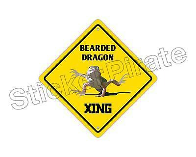 Dragon Crossing Funny Metal Aluminum Novelty Sign