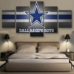 Dallas-Cowboys-Nation-5-pcs-Painting-Printed-Canvas-Wall-Art-Home-Decorative