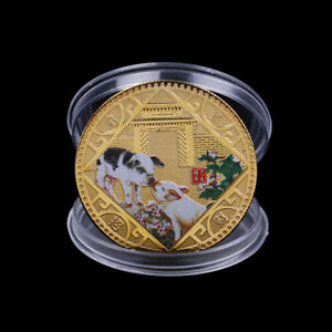 2019-Pig-Commemorative-Coin-Chinese-Zodiac-Anniversary-Coin-Souvenir-MedalPLCA