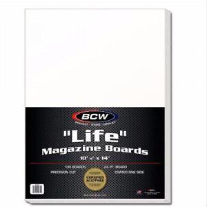 "(100) BCW Life Magazine Backing / Backer Boards 10 7/8"" x 14"" Time, Programs"