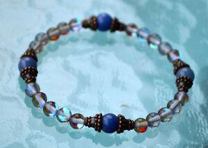 Labradorite and Aventurine 6 mm Handmade Wrist Mala Beads Bracelet - For New Opp