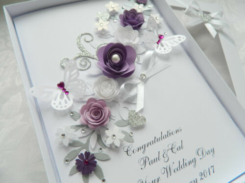 Wedding Day Box Anniversary Handmade Personalised Birthday Card,Engagement