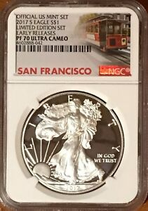 2017-S-PROOF-SILVER-EAGLE-LIMITED-EDITION-SET-NGC-PF70-ER-ULTRA-CAMEO-TROLLEY