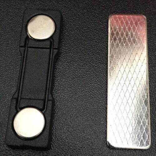 Magnetic Name Badge with Self Adhesive UK Designer Black 45mm x 13mm