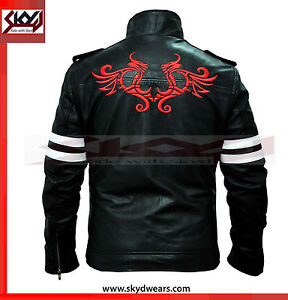 BNWT Prototype Alex Mercer Gaming Black Men/'s Leather Jacket