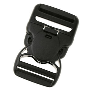 """Adjustable Buckles Clips Snaps 2/"""" Wide Heavy Duty Plastic for Backpack 38mm"""