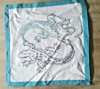 POTTERY BARN Kids Gecko Linen Decorative Sham Pillow Cover NEW Tags 16X16 stitch