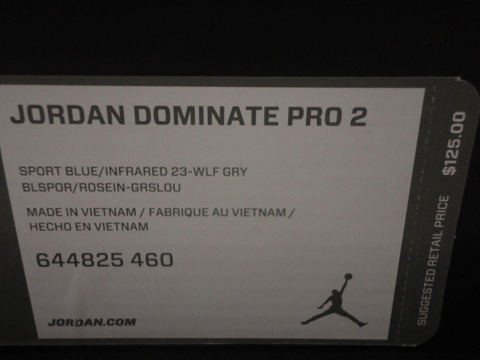 nike air jordan dominieren pro infrarot 2, sport, blau / infrarot pro - 23, größe 12 f1c0f6